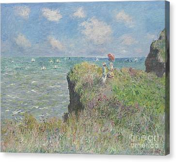 Cliff Walk At Pourville Canvas Print
