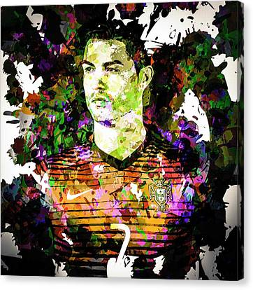 Cristiano Ronaldo Canvas Print by Svelby Art