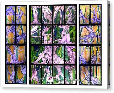 Canvas Print featuring the painting 6 Degrees Of Separation by Carol Rashawnna Williams