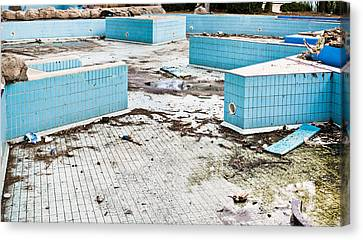 Derelict Swimming Pool Canvas Print by Tom Gowanlock