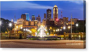 Des Moines From The State Capitol Canvas Print by Twenty Two North Photography
