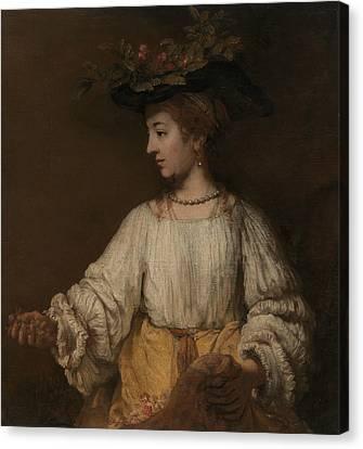 Flora Canvas Print by Rembrandt