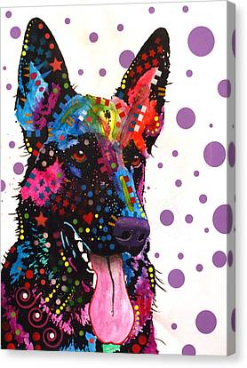 German Shepherd Canvas Print by Dean Russo