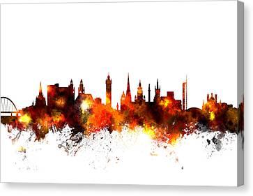 Glasgow Scotland Skyline Canvas Print