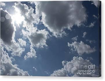 Canvas Print featuring the photograph 6-gon Boken Sky by Megan Dirsa-DuBois