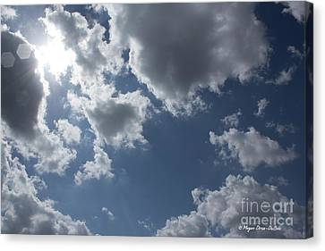 Canvas Print featuring the photograph 6-gon Boken Sky by Megan Dirsa-DuBois