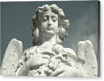 Canvas Print featuring the photograph Grieving Angel by Yurix Sardinelly