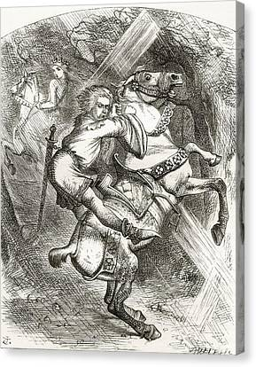 Illustration By J. Tenniel, To The Poem Canvas Print by Vintage Design Pics