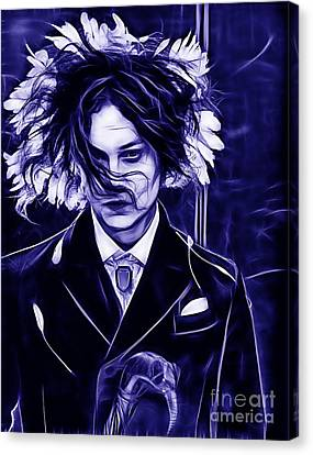 Jack White Collection Canvas Print by Marvin Blaine