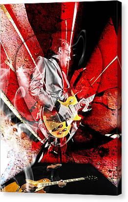 Joe Bonamassa Blues Guitarist Art. Canvas Print