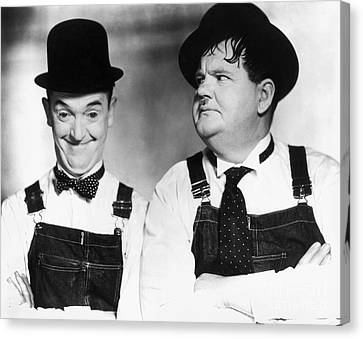 Overalls Canvas Print - Laurel And Hardy by Granger