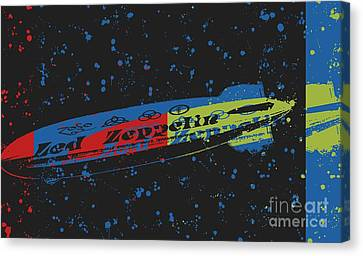 Led Zeppelin Artwork Canvas Print - Led Zeppelin by RJ Aguilar