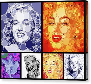Factory Canvas Print - Marilyn Monroe Vintage Hollywood Actress by Esoterica Art Agency