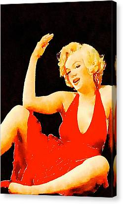 Marilyn Pinup By Frank Falcon Canvas Print