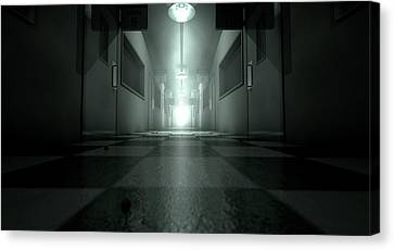 Mental Asylum Haunted Canvas Print by Allan Swart