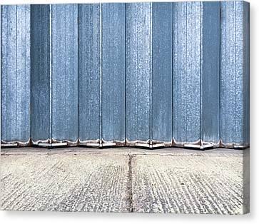 Metal Door  Canvas Print by Tom Gowanlock
