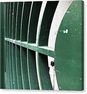 Industrial Concept Canvas Print - Metal Gate by Tom Gowanlock