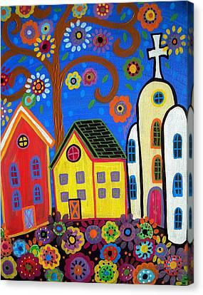 Mexican Town Canvas Print