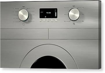 Modern Washing Machine Closeups Canvas Print