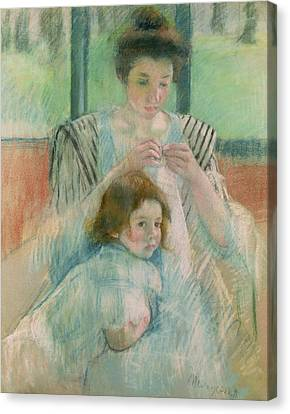 Mother And Child Canvas Print by Mary Stevenson Cassatt