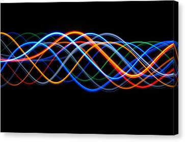 Moving Lights, Abstract Image Canvas Print by Lawrence Lawry