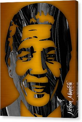 Nelson Mandela Collection Canvas Print