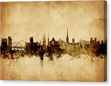 Newcastle England Skyline Canvas Print by Michael Tompsett