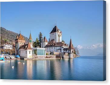 Chateau Canvas Print - Oberhofen - Switzerland by Joana Kruse