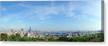 Panoramic View Of Kaohsiung City Canvas Print by Yali Shi