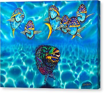 Parrotfish Canvas Print by Daniel Jean-Baptiste