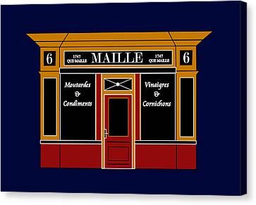 6 Place De La Madeleine A Parisian Shop Canvas Print by Asbjorn Lonvig