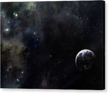Planets Canvas Print - Planets by Mery Moon