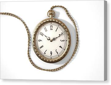 Pocket Watch On Chain Canvas Print by Allan Swart