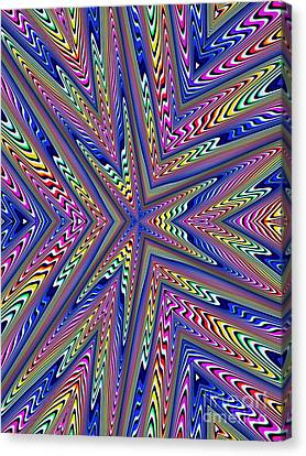 6 Point Abstract Canvas Print