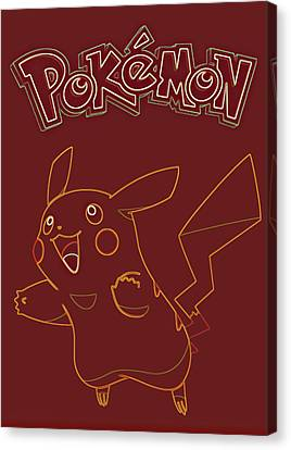 Pokemon - Pikachu Canvas Print by Kyle West