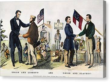 Presidential Campaign, 1864 Canvas Print by Granger