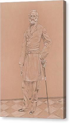 Robert E. Lee Canvas Print by Dennis Larson