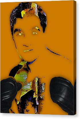 Black Canvas Print - Rocky Marciano Collection by Marvin Blaine
