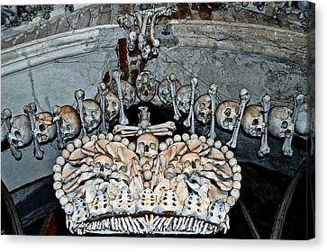 Sedlec Ossuary. Cemetery Church Of All Saints With The Ossuary. Czech Republic. Canvas Print by Andy Za
