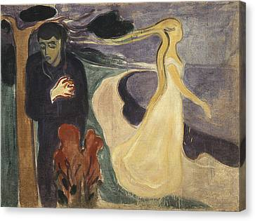 Separation Canvas Print by Edvard Munch