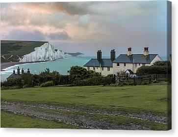Coastguard Canvas Print - Seven Sisters - England by Joana Kruse