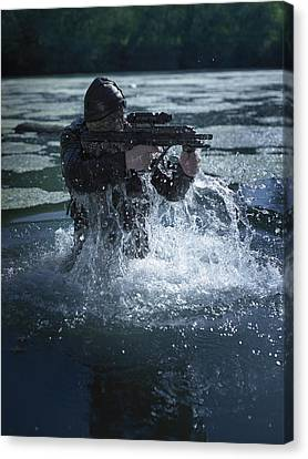 Special Operations Forces Soldier Canvas Print by Tom Weber