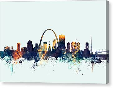 St Louis Missouri Skyline Canvas Print by Michael Tompsett