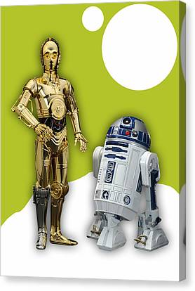 Star Wars Canvas Print - Star Wars C3po And R2d2 Collection by Marvin Blaine