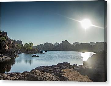 Sunrise At Watson Lake Canvas Print