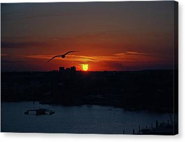 Canvas Print featuring the photograph 6- Sunset by Joseph Keane