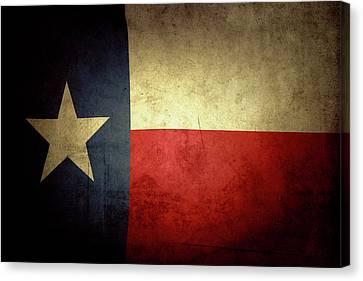 Texas Flag Canvas Print by Les Cunliffe
