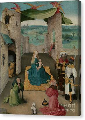 The Adoration Of The Magi Canvas Print by Hieronymus Bosch