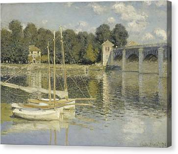 The Argenteuil Bridge Canvas Print by Claude Monet