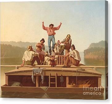 The Jolly Flatboatmen Canvas Print